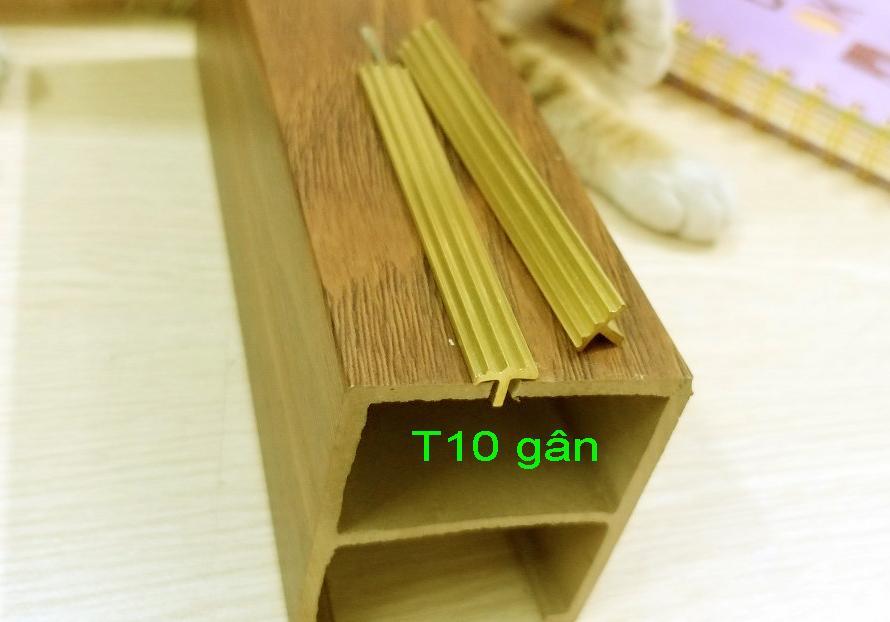 nẹp đồng T10 gân